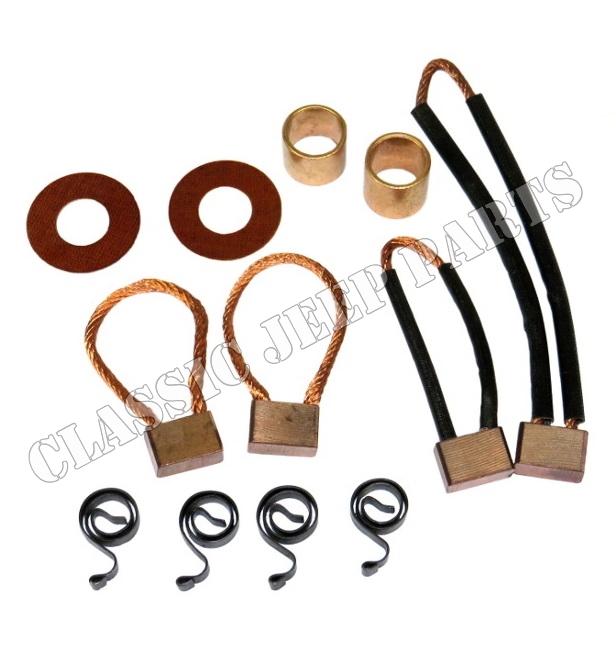 Electric Motor Brush Repair Kit: Brush And Bushing Repair Kit Starter Motor 6 And 12 Volt