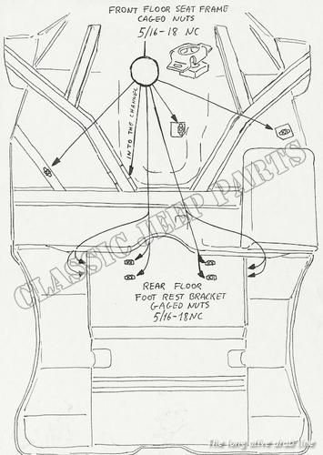 automotive simple bow parts diagram