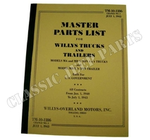 Parts manual WILLYS MA/MB/MBT