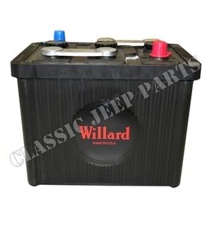 Batteri bakelit 6 volt 98 ah Willard storlek 26x17x22cm