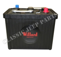 Battery bakelite 6 volt 98 ah Willard size 26x17x22cm