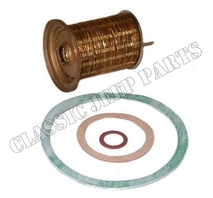 Cartridge fuel filter brass strips with gaskets