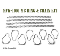 Thumbscrew ring and chain kit WILLYS MB