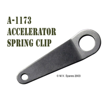 Accelerator spring clip