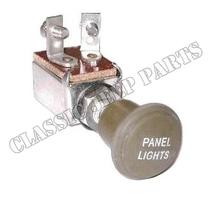 Ljusomkopplare instrumentbelysning med metallknopp