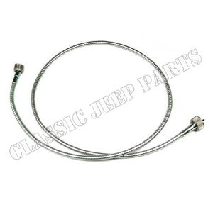 Speedometer cable with metal tube