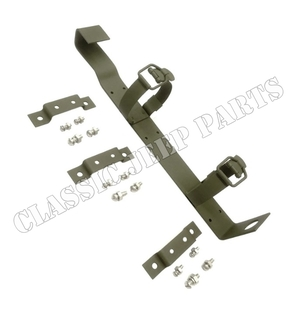 Fire extinguisher bracket with correct screws washers and nuts
