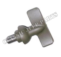 Windshield thumbscrew pivot