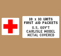 First Aid Packets 18x10 Units