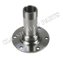 Front wheel bearing spindle and bushing assy