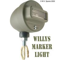 Mörkerljus i grill höger med kabel WILLYS MB C-B märkt