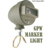 Mörkerljus i grill höger med kabel FORD GPW F-märkt