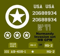 Normandy Invasion set  MB GPW