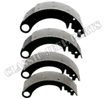 Brake shoes set for one axle WILLYS MB FORD GPW with glued brake linings
