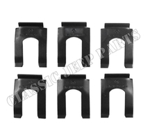 Brake hose spring loc clip set with 6 pcs WILLYS MB